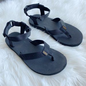 teva original black sandals
